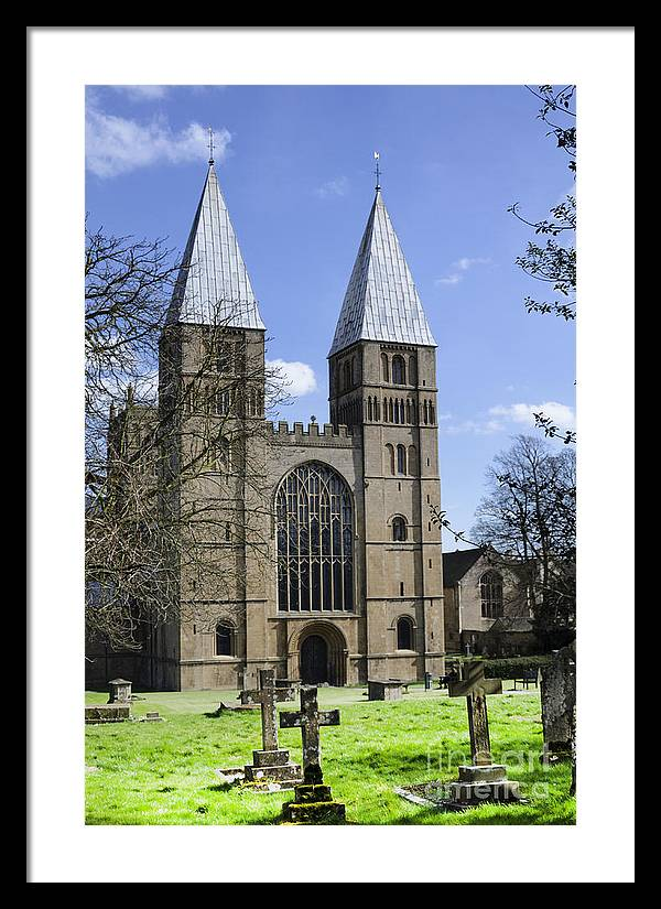 Southwell Minster Framed Print featuring the photograph Southwell Minster church yard by Steev Stamford