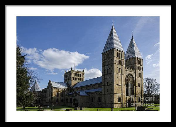 Southwell Minster Framed Print featuring the photograph Southwell Minster - north west by Steev Stamford