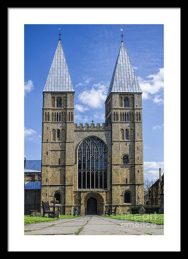Southwell Minster Framed Print featuring the photograph Southwell Minster by Steev Stamford