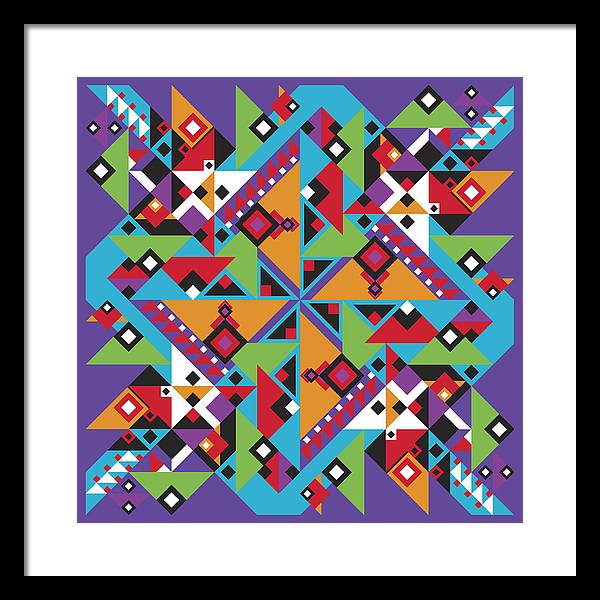 Optical Geometric Visual Digital Art Giclee Print Framed Print featuring the digital art Southwest 1 by James Sharp