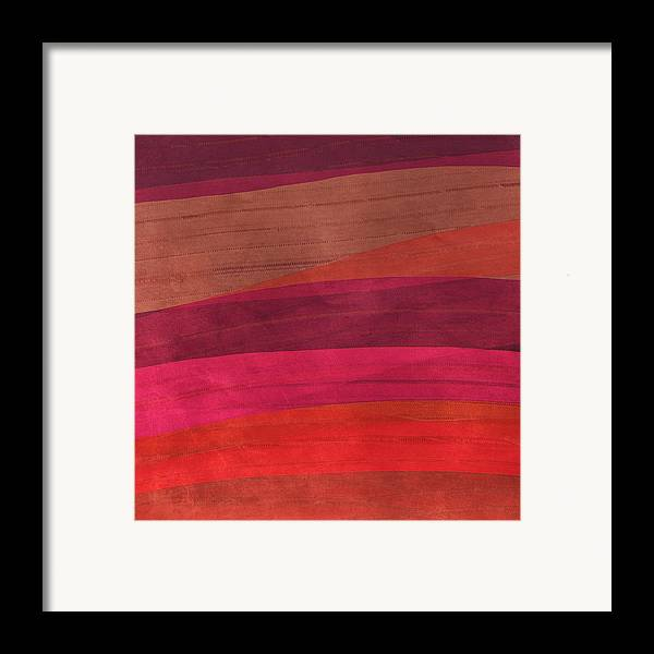 Abstract Framed Print featuring the digital art Southwestern Sunset Abstract by Bonnie Bruno