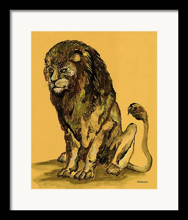 African Art Framed Print featuring the painting Sovereignty by Peter Melonas