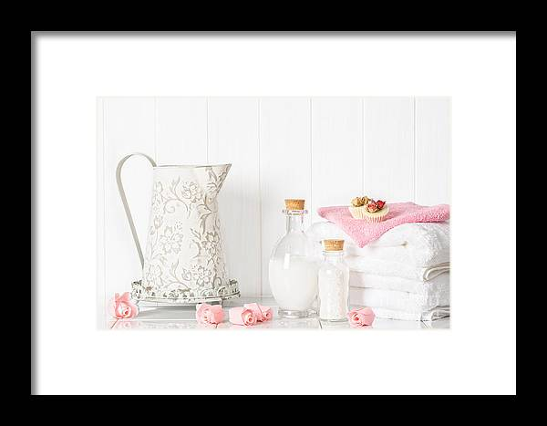Spa Framed Print featuring the photograph Spa Setting by Amanda Elwell