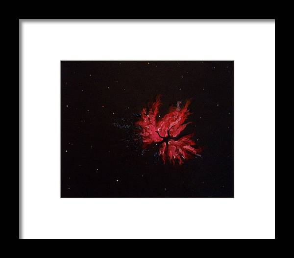 Space Framed Print featuring the painting Space by Angelina Forcine