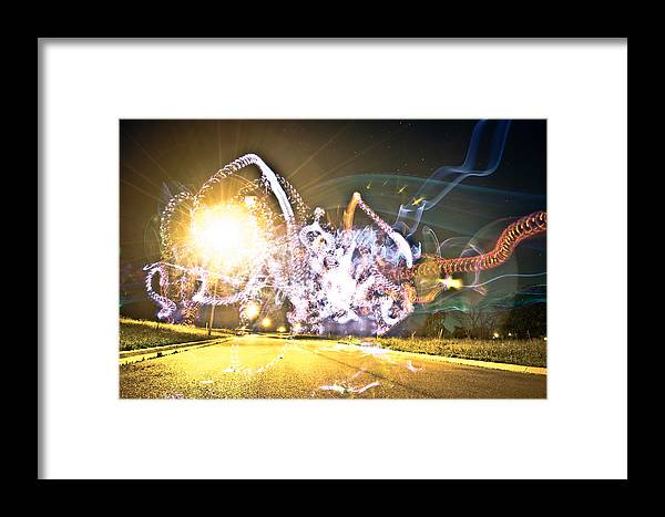 Long Exposures Framed Print featuring the photograph Space. by Chance Beaver