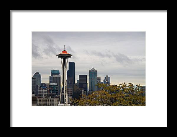 Seattle Framed Print featuring the photograph Space Needle by Diane Songstad