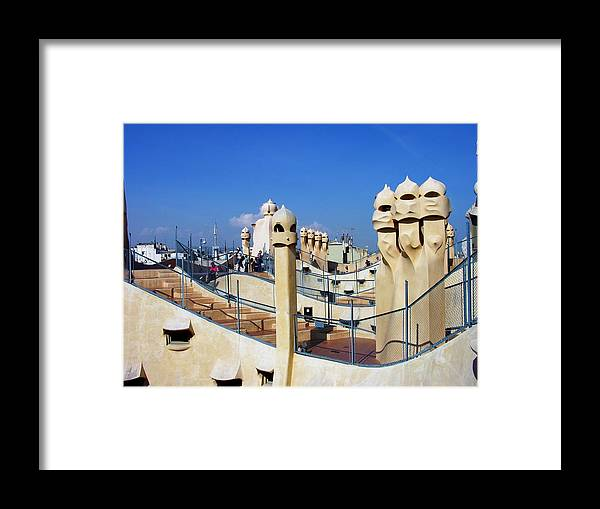 Spain Framed Print featuring the photograph Spain - Barcelona - Gaudi - Casa Mila by Jacqueline M Lewis