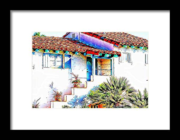 Spanish Framed Print featuring the photograph Spanish Bungalow by Audreen Gieger