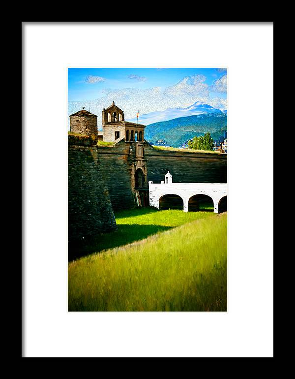 Castle Framed Print featuring the painting Spanish Castle by Bruce Nutting