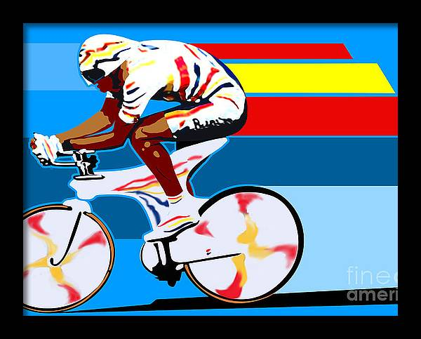 spanish cycling athlete illustration print Miguel Indurain by Sassan Filsoof