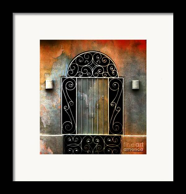 Gate Prints Framed Print featuring the photograph Spanish Influence by Barbara Chichester