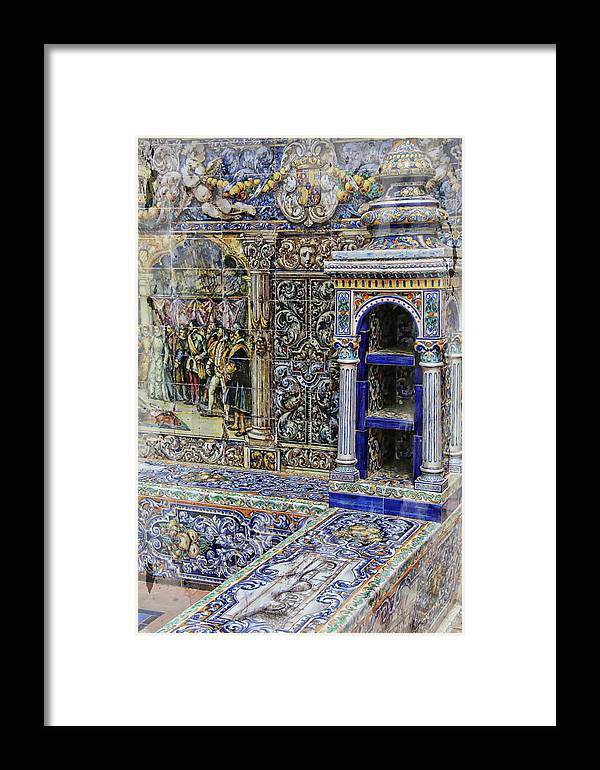 Building Decor Detail Framed Print featuring the photograph Spanish Tile by Robert Seidman