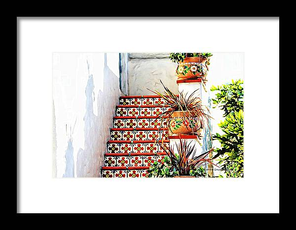 Spain Framed Print featuring the photograph Spanish Tiles by Audreen Gieger