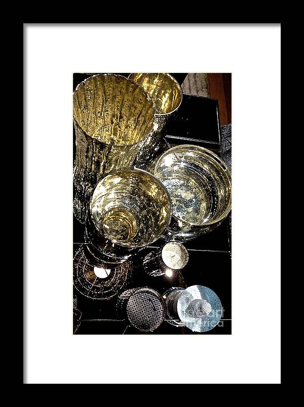 Silver Framed Print featuring the photograph My Cups Runneth Over by Beth Saffer