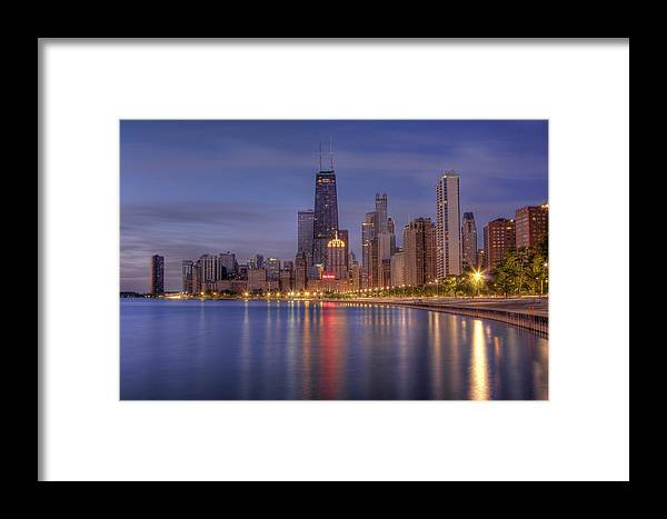 Chicago Framed Print featuring the photograph Sparkling Chicago by Lindley Johnson