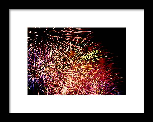 Colored Framed Print featuring the photograph Sparkling Night by Patrick Kessler