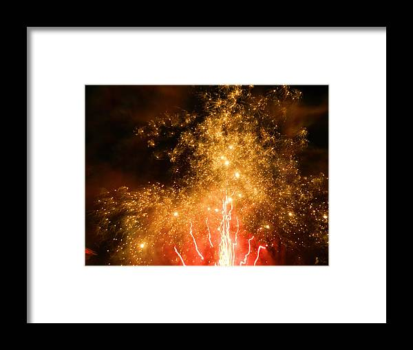 Fireworks Framed Print featuring the photograph Sparkling Skies by Heather White