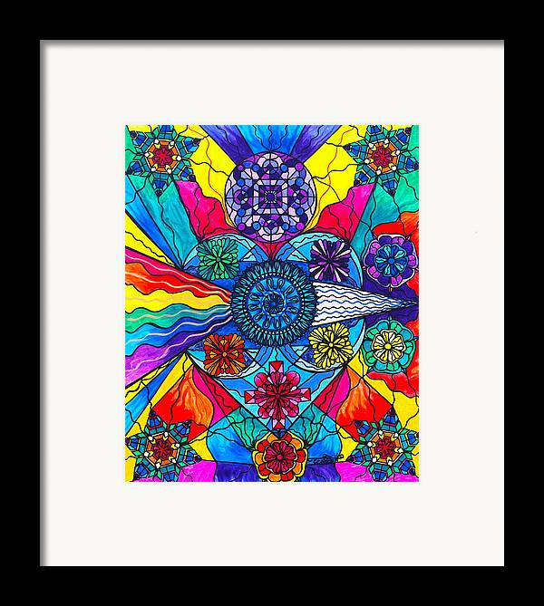 Vibration Framed Print featuring the painting Speak From The Heart by Teal Eye Print Store