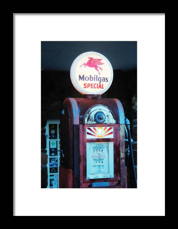 Mobil Framed Print featuring the photograph Special Mobilgas by Valerie Loop