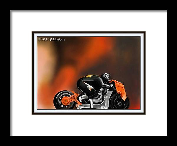 Framed Print featuring the painting Speed by Mothilal Balakrishnan