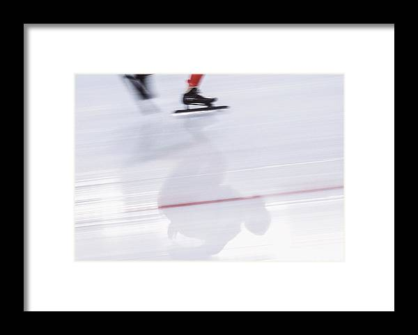 People Framed Print featuring the photograph Speed Skating, Action Blur by David Madison