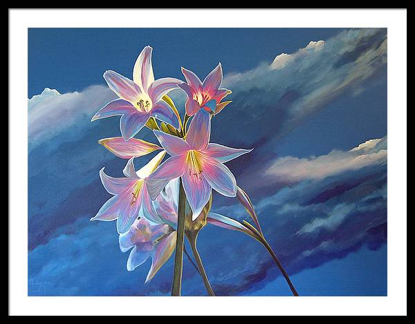 Botanical Framed Print featuring the painting Spellbound by Hunter Jay
