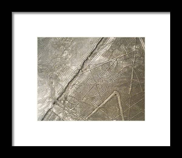 Peru Framed Print featuring the photograph Spider Geoglyph by Jared Bendis