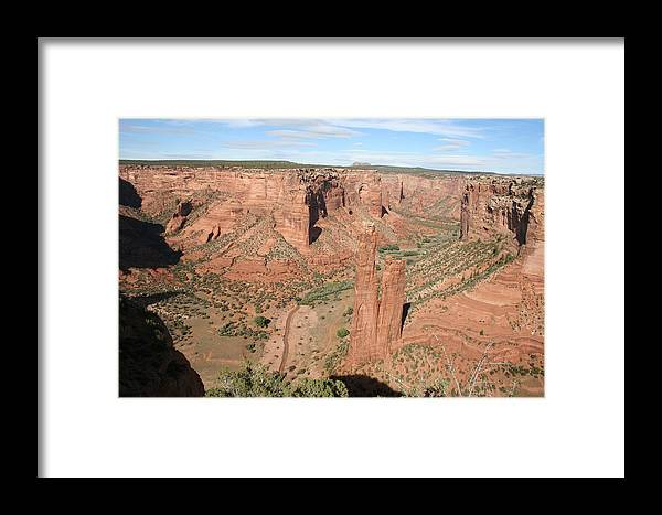 Spider Rock Framed Print featuring the photograph Spider Rock Canyon De Chelly by Christiane Schulze Art And Photography
