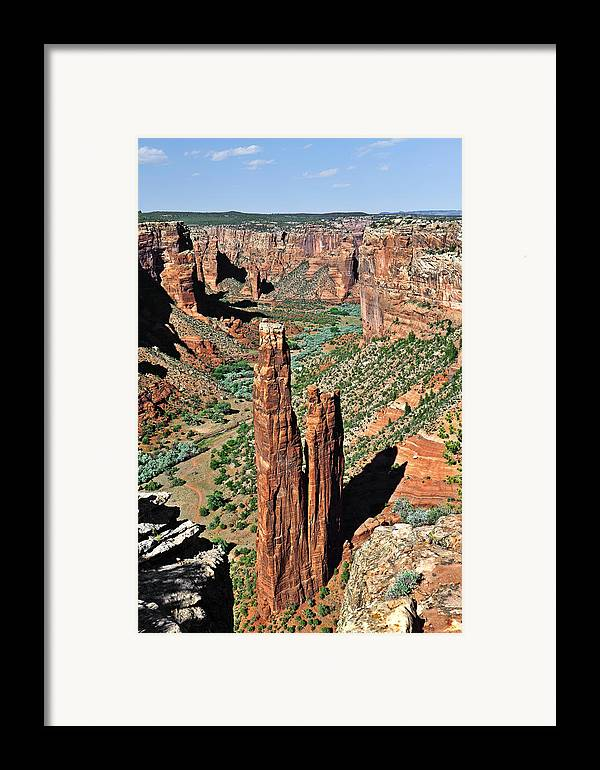 Canyon Framed Print featuring the photograph Spider Rock Canyon De Chelly by Christine Till