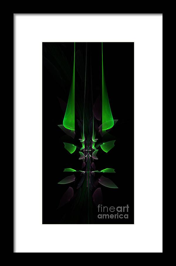 Fractal Framed Print featuring the digital art Spinal Tap by Keith Andersen