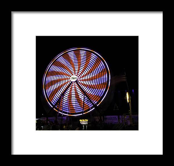 Spin Framed Print featuring the photograph Spinning Ferris Wheel by Jay Droggitis