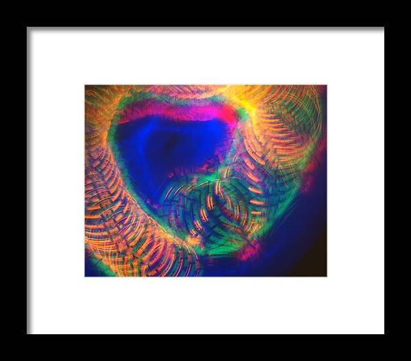 Multi-color Framed Print featuring the photograph Spinning Universe Of Color by Blair Seitz
