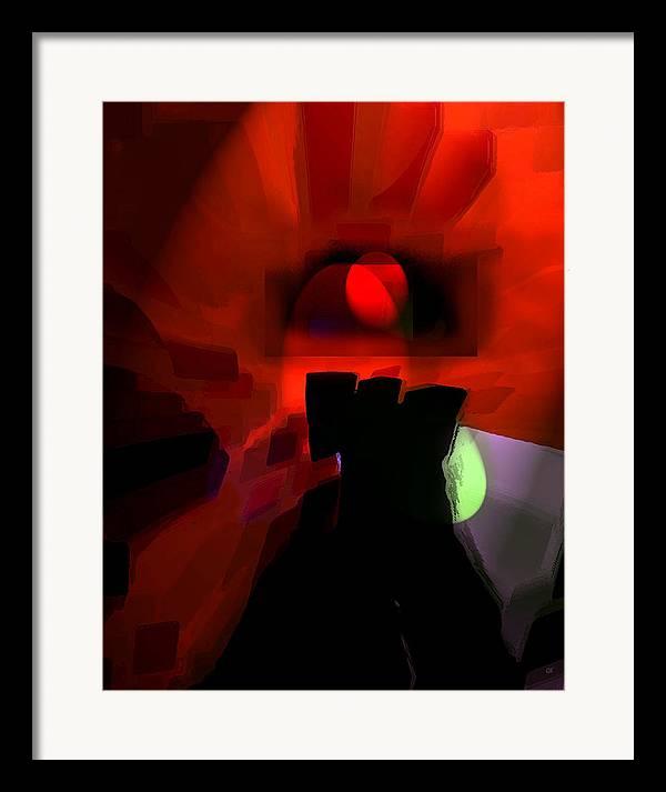 Abstract Digital Art Framed Print featuring the digital art Spirit by Gerlinde Keating - Galleria GK Keating Associates Inc