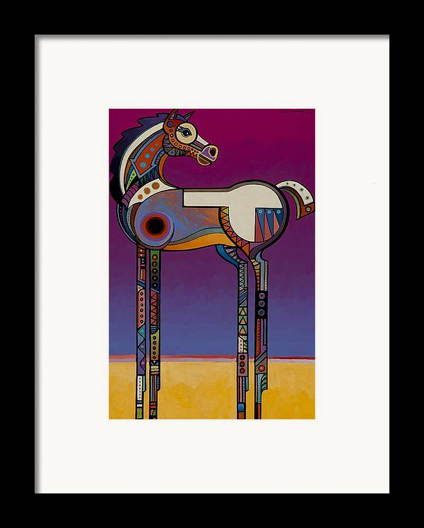 Animal Art Framed Print featuring the painting Spirit Horse by Bob Coonts