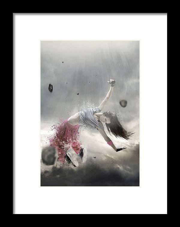 Spirit Of Dance Framed Print featuring the digital art Spirit Of Dance by Gary Ljamin