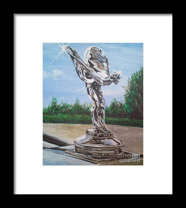 Spirit Of Ecstasy Framed Print featuring the painting Spirit Of Ecstasy by Richard John Holden RA