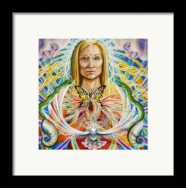 Aura Framed Print featuring the painting Spirit Portrait by Morgan Mandala Manley