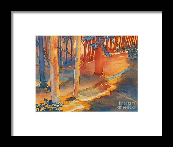 Spiritual Forest Framed Print featuring the painting Spiritual Forest by Lise PICHE