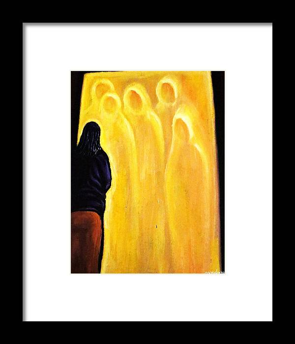 Spiritual Framed Print featuring the painting Spiritual Journey by Carmen Cordova