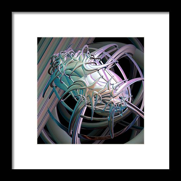 Incendia Framed Print featuring the digital art Spiritual Quest by Michele Caporaso