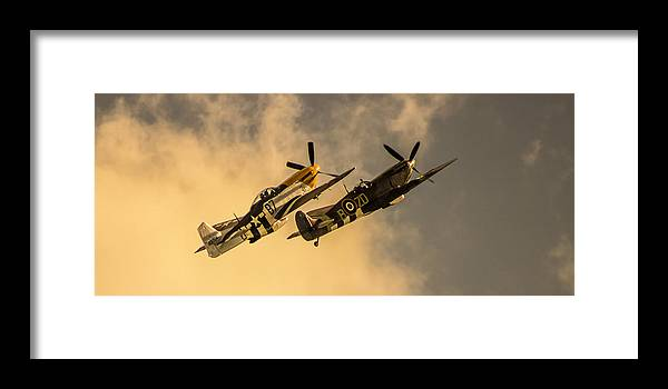 Duxford Framed Print featuring the photograph Spitfire by Martin Newman