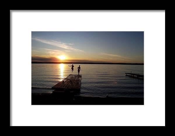 Dock Framed Print featuring the photograph Splash by J Scott Hunter