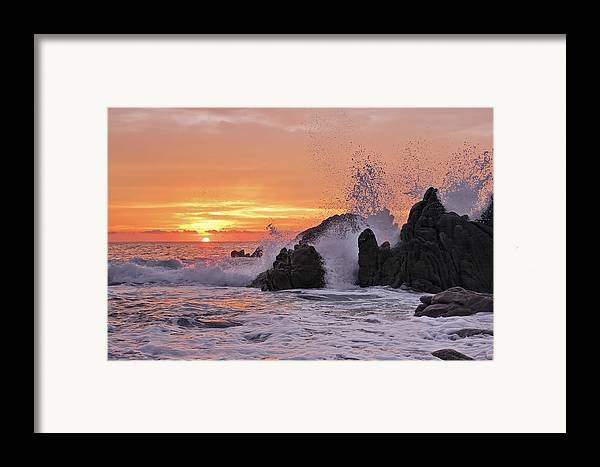 Landscape Framed Print featuring the photograph Splash by Marcia Colelli