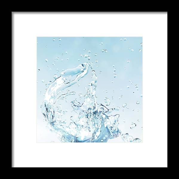 Motion Framed Print featuring the digital art Splash Of Water by Maciej Frolow