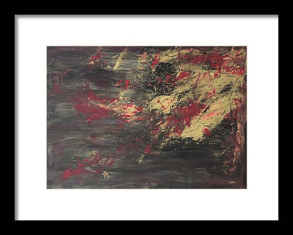 Abstract Framed Print featuring the painting Splashed by Joanna Aktas