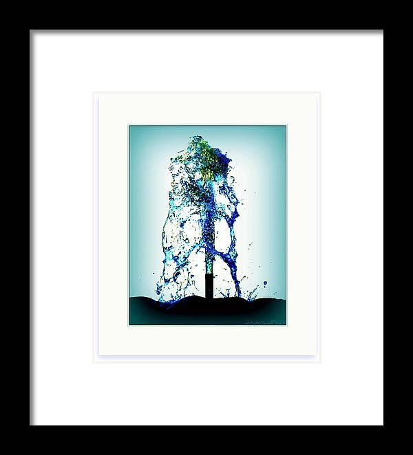 Artiste Danielle Parent Framed Print featuring the photograph Splashing Fountain by Danielle Parent