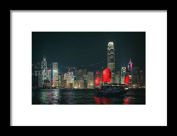 Outdoors Framed Print featuring the photograph Splendid Asian City, Hong Kong by D3sign