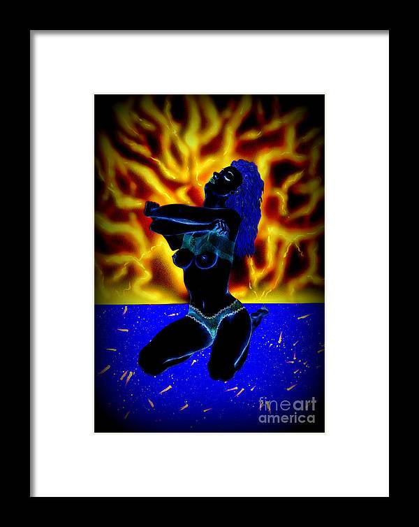 Flame Framed Print featuring the mixed media Splinters Of Imagination by Kenneth Clarke