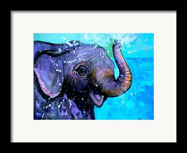 Splish Splash Framed Print featuring the painting Splish Splash by Debi Starr