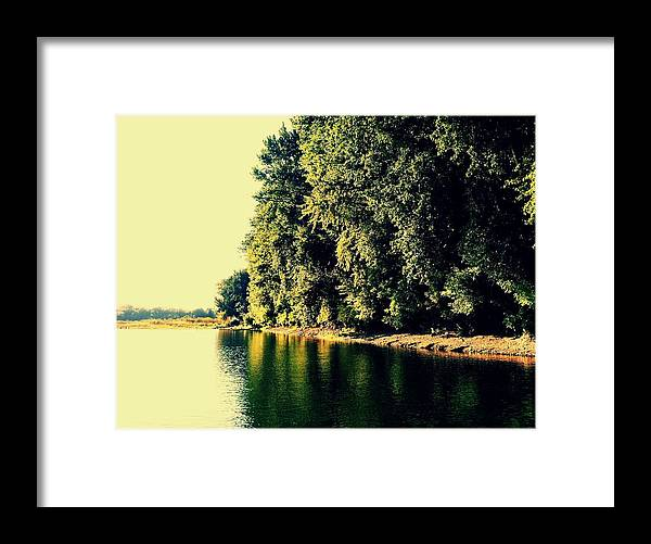 Willamette River Framed Print featuring the photograph Split by Chris Dunn